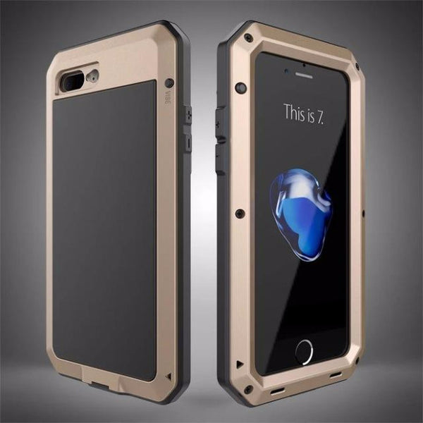 Heavy Duty Doom Armor Metal Case For iPhone-gray