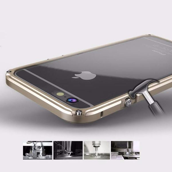 Aluminum Frame Metal Bumper Case For iPhone