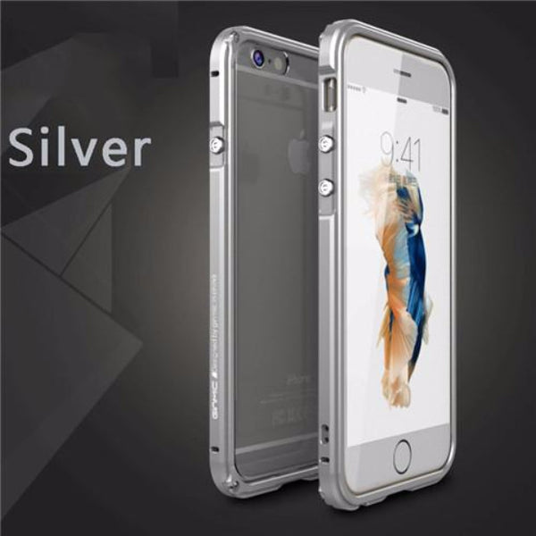 Aluminum Frame Metal Bumper Case For iPhone-silver