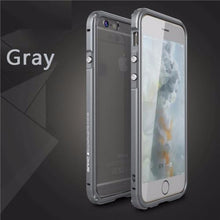 Aluminum Frame Metal Bumper Case For iPhone-gray
