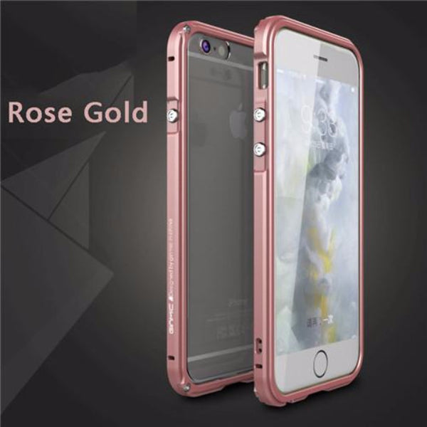 Aluminum Frame Metal Bumper Case For iPhone-rose gold