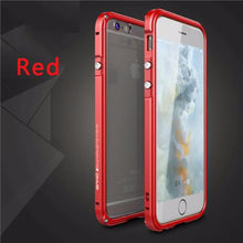 Aluminum Frame Metal Bumper Case For iPhone-red