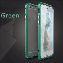 Aluminum Frame Metal Bumper Case For iPhone-green