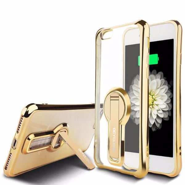 Electroplate Shiny Glitter Gold Case For iPhone-gold