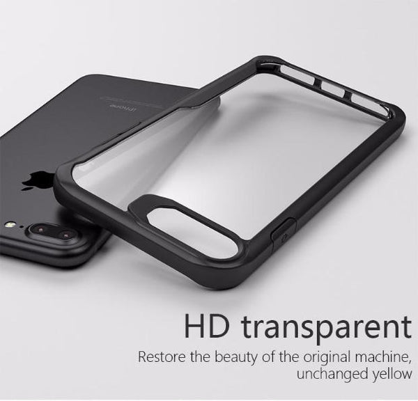 Acrylic Shockproof Transparent Cover Case For iPhone