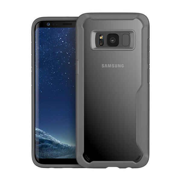 Acrylic Shockproof Transparent Cover Case For Samsung-Gray