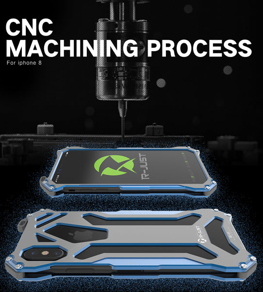 657-Original CNC Armor Shell Metal Aluminum Protection Phone Case For iPhone X