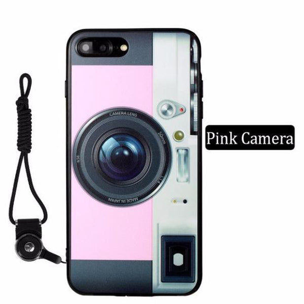 Luxury Vintage Camera Case For iPhone-Pink Camera
