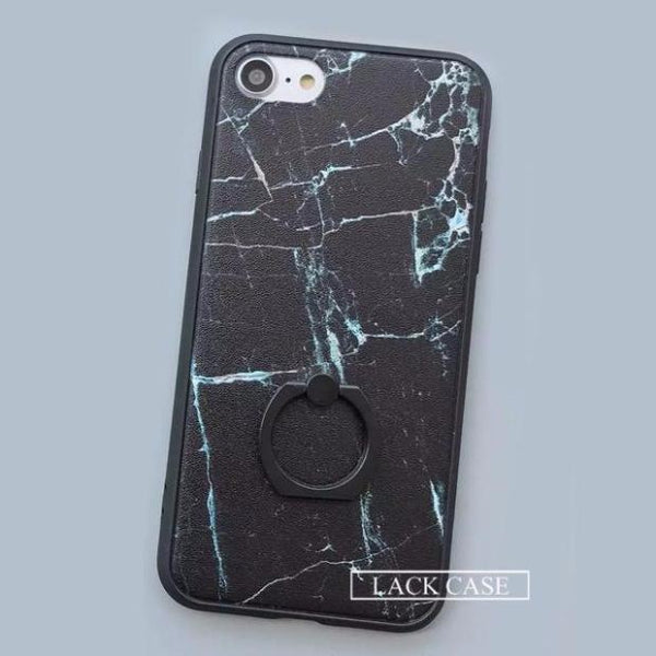 550-Ashion Classics Black White Marble Case For iPhone