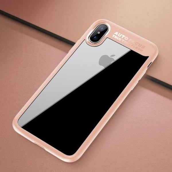 602-Slim Full Protective PC & TPU Silicone Cover Case for iPhone