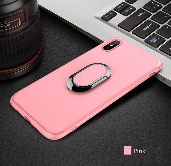 778-Magnetic Suction Bracket Case For iPhone X