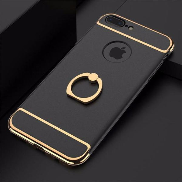 3 in 1 Holder Case For iPhone-Black