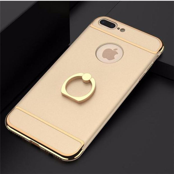 3 in 1 Holder Case For iPhone- Golden