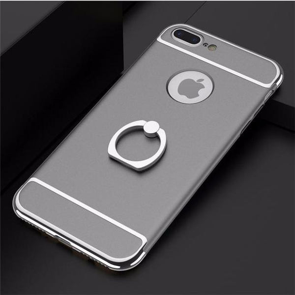 3 in 1 Holder Case For iPhone-Gray
