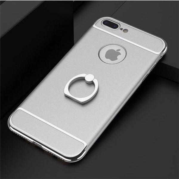 3 in 1 Holder Case For iPhone-Silver