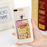 548-Luxury Bling Stars Dynamic Liquid Quicksand Clear Phone Case