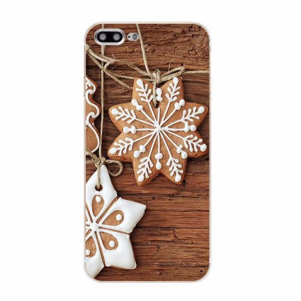 505-Cover Soft Silicone Christmas Case For iPhone