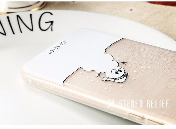 506-Soft TPU Christmas Winter Cover For iPhone