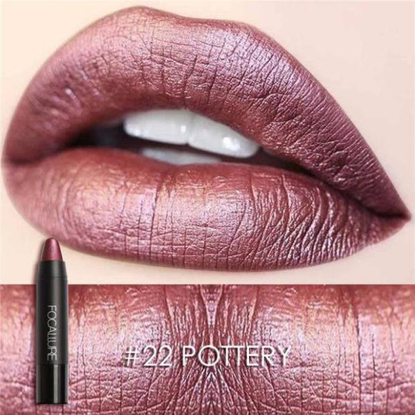 B015-Metallic Colors Matte Waterproof  Long-lasting Lipstick