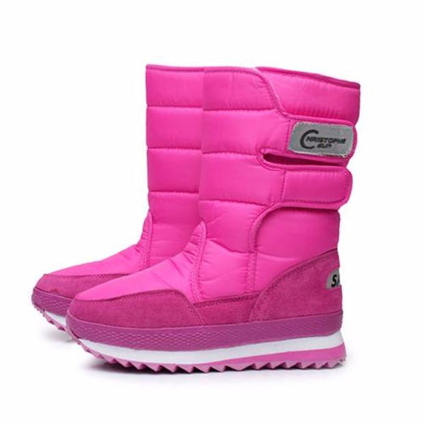 567-2017 NEW Warm Solid Anti-Slip Waterproof Female Winter Snow Boots