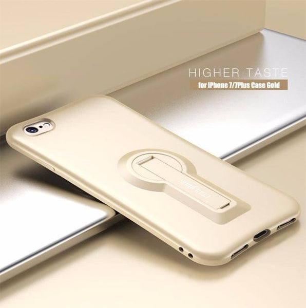 401-Soft TPU Shockproof Cover 360 Degree Rack Stand For iPhone