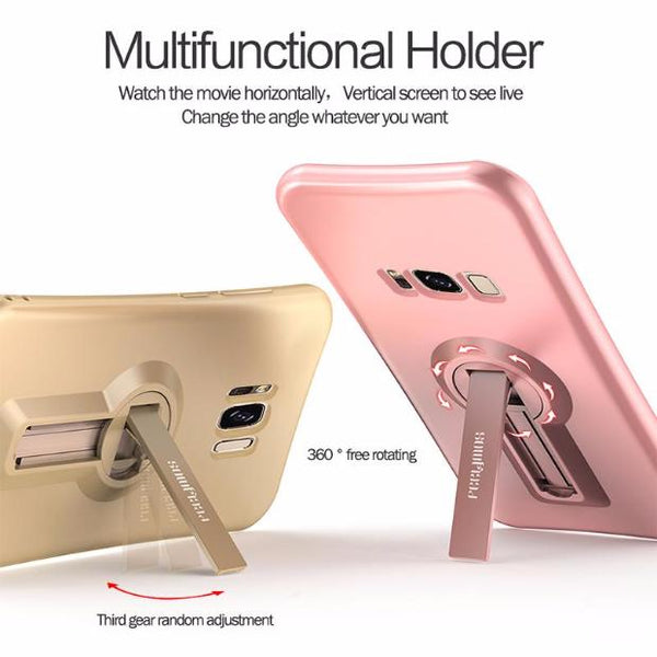 402-Soft TPU Shockproof Cover 360 Degree Rack Stand for Samsung
