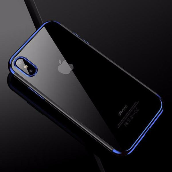 609-Luxury Fashion Transparent TPU Soft Back Shell For iPhone X