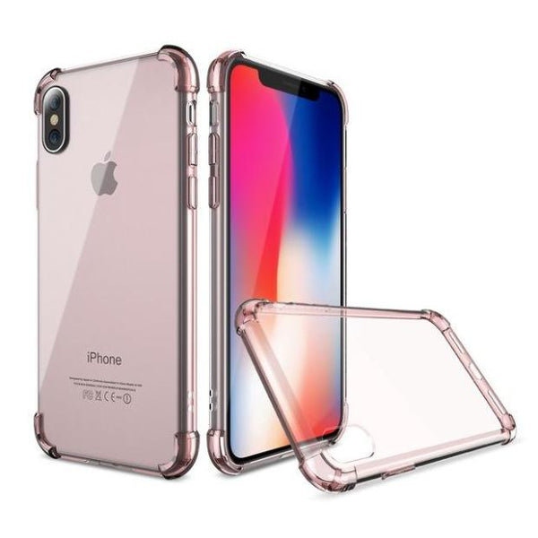 675-Clear Silicon Shockproof Case For iPhone X