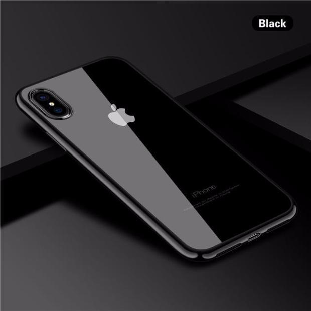 huge sale 52153 cce96 726-Ultra Thin Electroplated Clear Soft TPU Silicone Shockproof Case For  iPhone