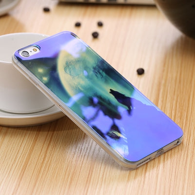 496-Blue Ray Transparent Cover For iPhone