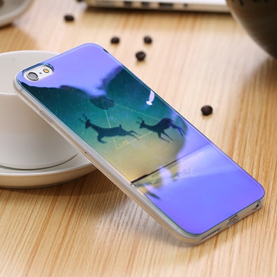 497-Blue Ray Transparent Cover For iPhone