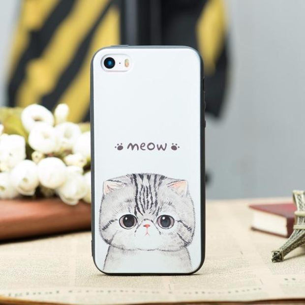 448-Funny Cartoon Pets Phonecase For iPhone