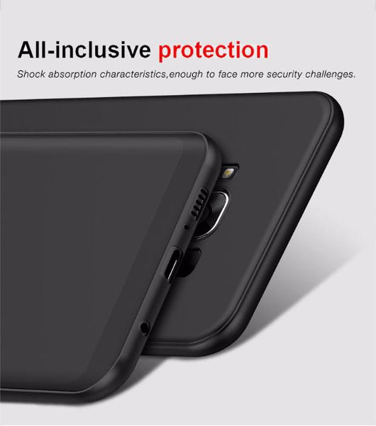 411-Ultra Slim Matte Silicone TPU Cover For Samsung