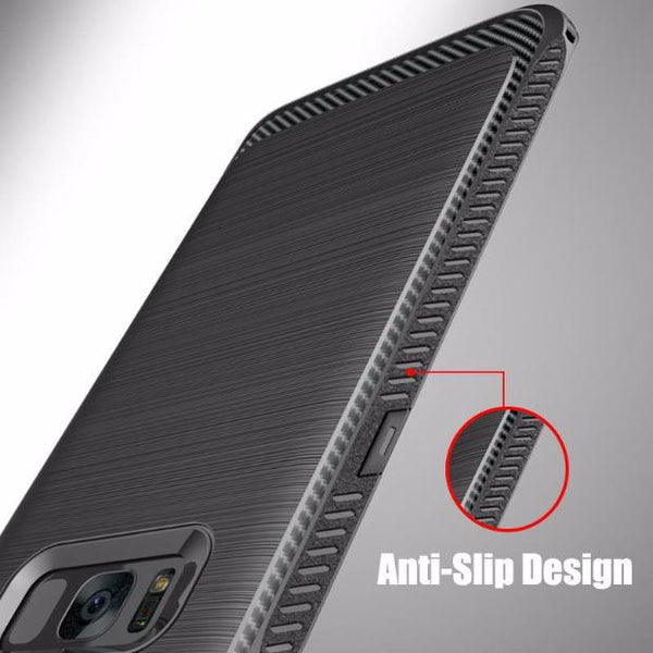 457-Luxury Military Grade Protection Brushed Soft Silicone Rubber Case For S8/S8+