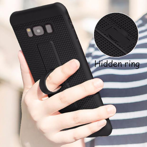 421-With Holder & Mesh Fitted Case For Samsung S8/S8+