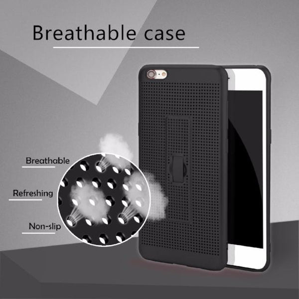 Halloween-422-With Holder & Mesh Fitted Case For iPhone *BUY 2 GET 1 FREE*