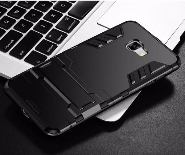 430-Hybrid Silicone Hard PC Slim Case For Samsung