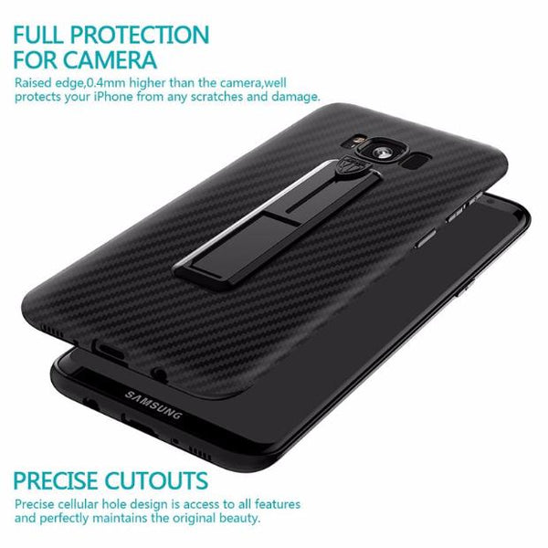 519-Protective Back Shell with Retractable Ring Bracket For Samsung