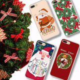 501-Cute Christmas Pattern Ultra Thin Case For iPhone