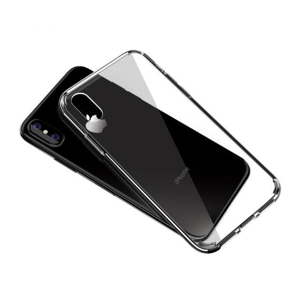 773-Ultra thin Clear Hard Back Case For iPhone