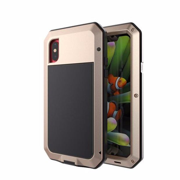 654-Aluminum Metal Shockproof Life Water Proof For iPhone X
