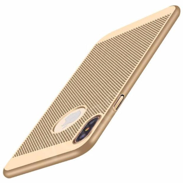 641-Luxury Heat Dissipation Matte Plastic Case For iPhone
