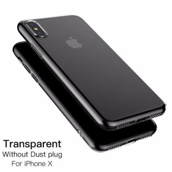 611-Luxury Ultra Thin TPU Silicone Phone Soft Slim Case For iPhone X