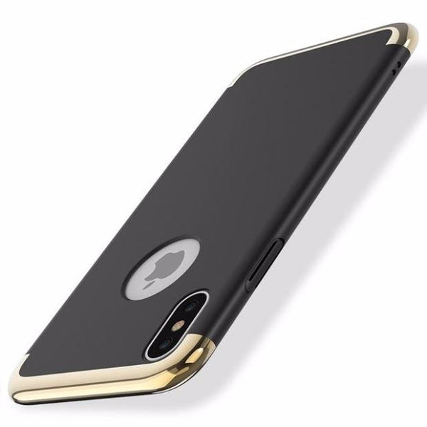624-Luxury 3 in 1 Hard PC Phone Case For iPhone
