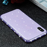 687-Glitter Diamond Case For iPhone X