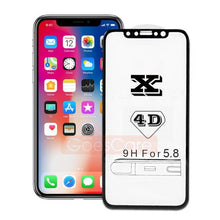 658-4D Full Glass Hard Edge Premium Tempered Glass For iPhone X