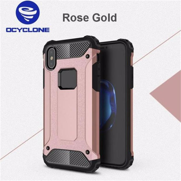 647-Heavy Duty Full Protection Armored Cover Case For iPhone X