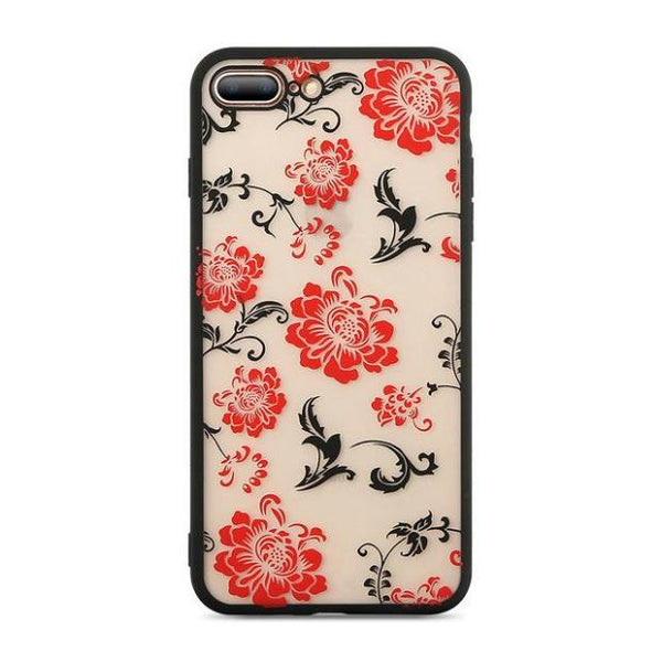 673-Rose Flower Lace Case For iPhone X