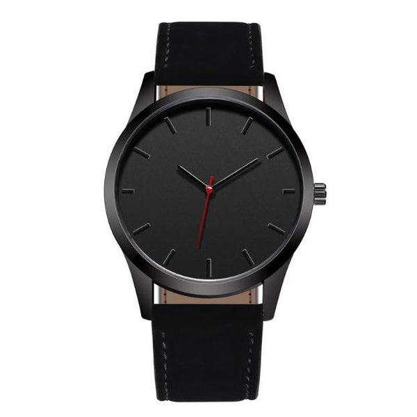 876 - SW Minimalist Design Leather Watch