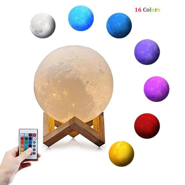 1005-3D Touch Switch Moon Lamp